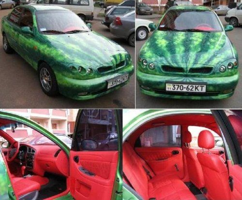 Watermelon-mobile. If this aint the most ghetto mess i've ever seen...