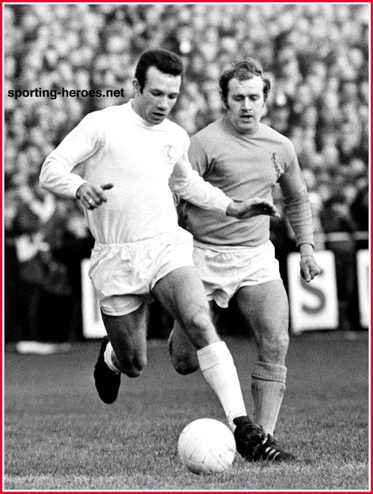 24th January 1970. Leeds United Paul Reaney playing in the FA Cup against non-League Sutton United.