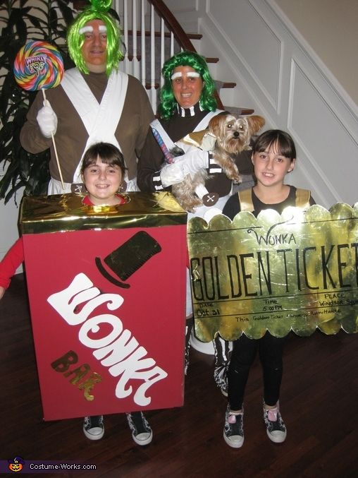 Willy Wonka Family Costume | Willy wonka, Chocolate ...