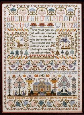 Three Things Sampler - Cross Stitch Pattern - Moira Blackburn
