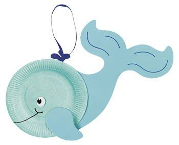 Paper Plate Whale Craft Kit - very cool!