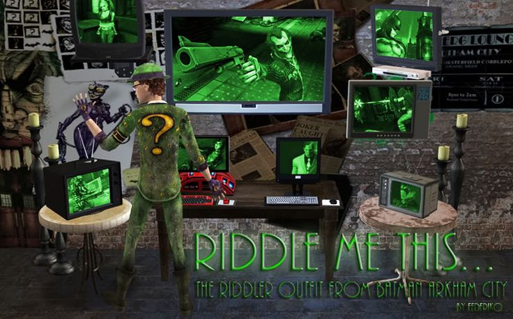Riddle me this... The Riddler Outfit from Batman Arkham City