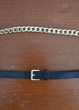 Kaufe meinen Artikel bei #Kleiderkreisel http://www.kleiderkreisel.de/accessoires/gurtel/90446006-hm-dunner-gurtel-schwarz-gold-goldkette