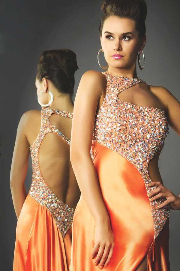 Mac Duggal Prom Dress 81428 - super sexy orange formal dresses | Promgirl.net