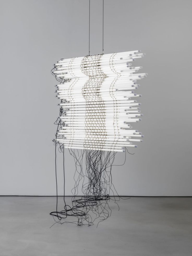 Monica Bonvicini 2017 led light tubes wire steel