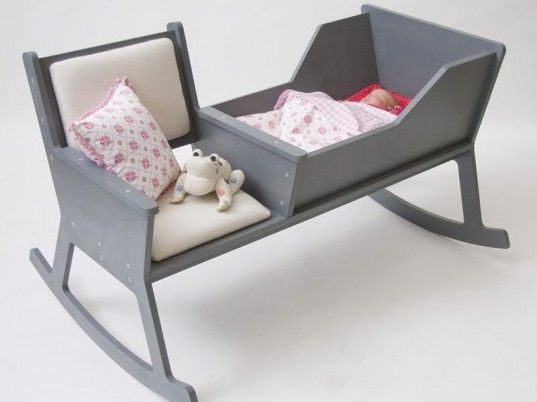 rocking chair, wooden cradle, wooden crib, cradle, rocker, modern design, green baby,