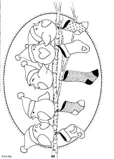 lots of cute winter embroidery patterns