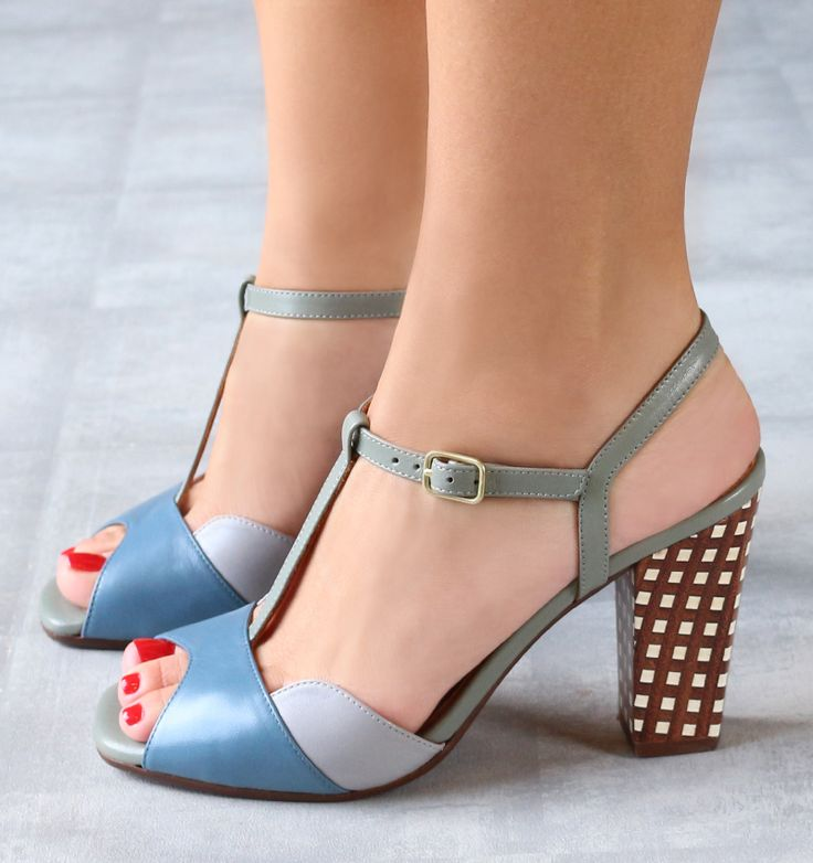Best Sandals Women Chie Mihara ITOKI Blue / Brown US Online