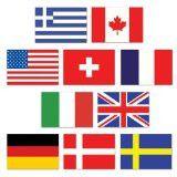 Mini International Flag Cutouts | 10ct