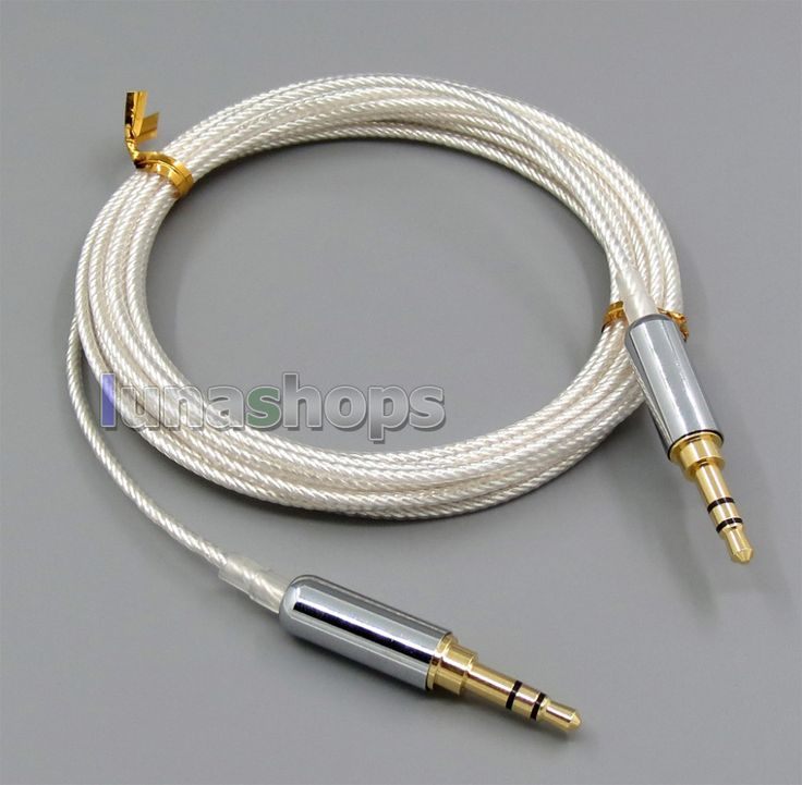 3m Pure Silver Plated 3.5mm Male Headphone cable for Monster Headphone Car AUX Speaker etc.