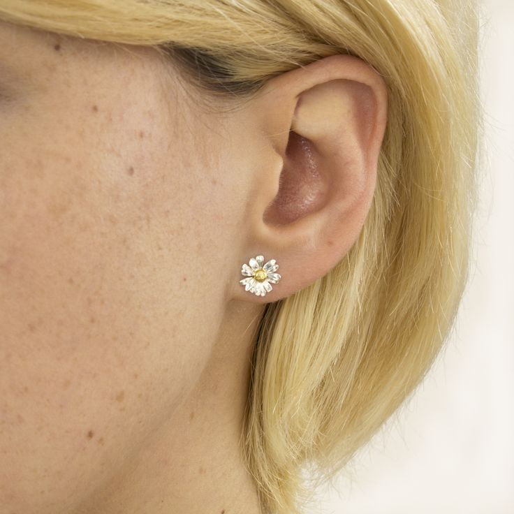Classic Daisy Stud Earrings, Alex Monroe