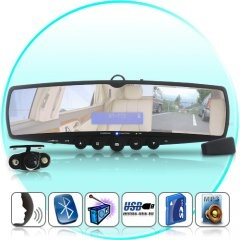 Car Rearview Mirror with Wireless Parking Camera (Bluetooth, MP3, FM Transmitter) from China