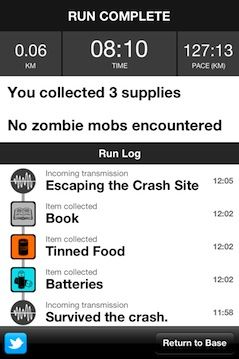 Can't wait for this to be available on Android! Nothing like running from zombies to get you motivated!