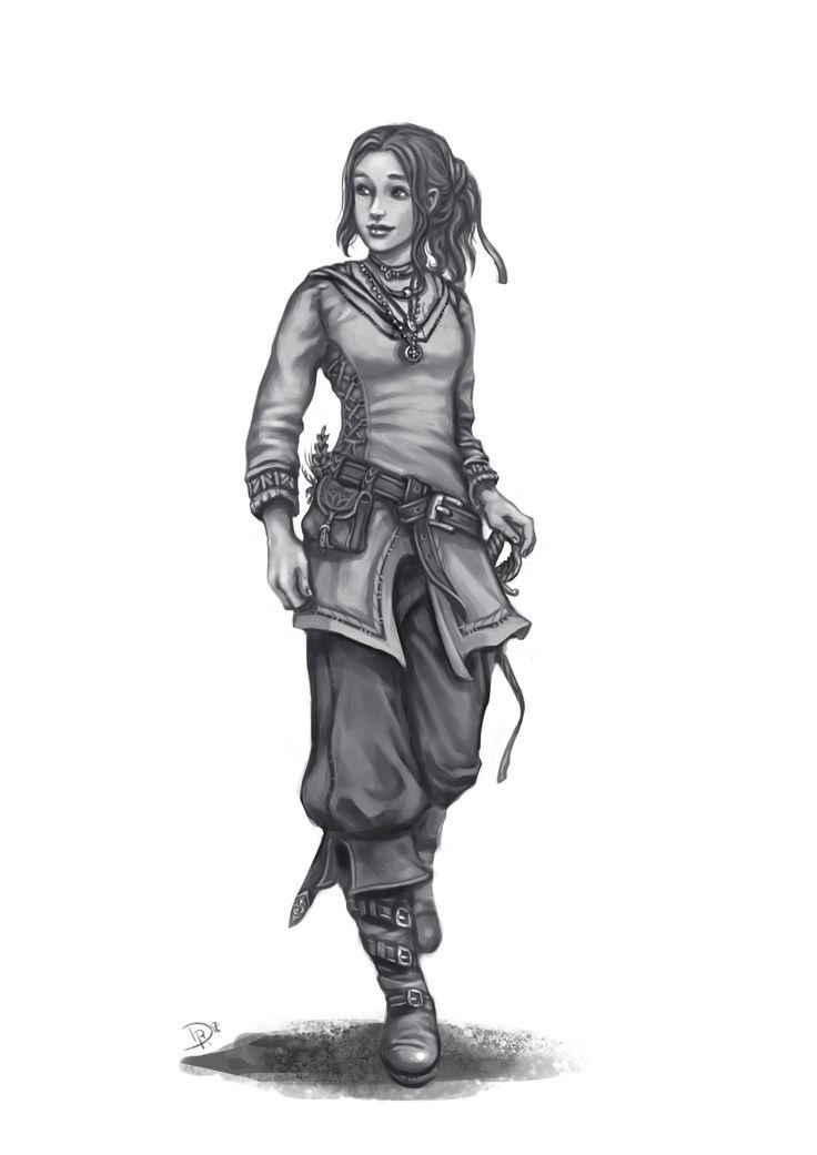 Charakterzeichnung (DSA): Amene Melior, horasische Gauklerin https://art.dianarahfoth.de/