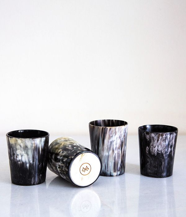 Dark Cow Horn Whisky Tumbler Set – Ethically sourced