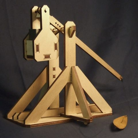 Snap-together Trebuchette. I have one - it's really cool. Not recommended for people in snap together castles.