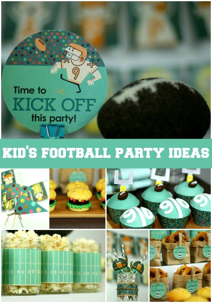 Kids Football Party Ideas - http://kidsactivitiesblog.com/47275/kids-football-party-ideas