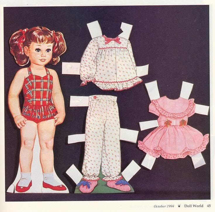 Chatty Cathy paper doll...first you cut out the doll, then you cut out her clothes.