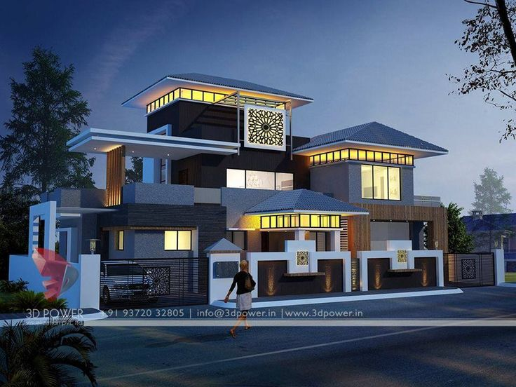 Lavish Modern Bungalow Exterior Rendering And Elevation Design By Power