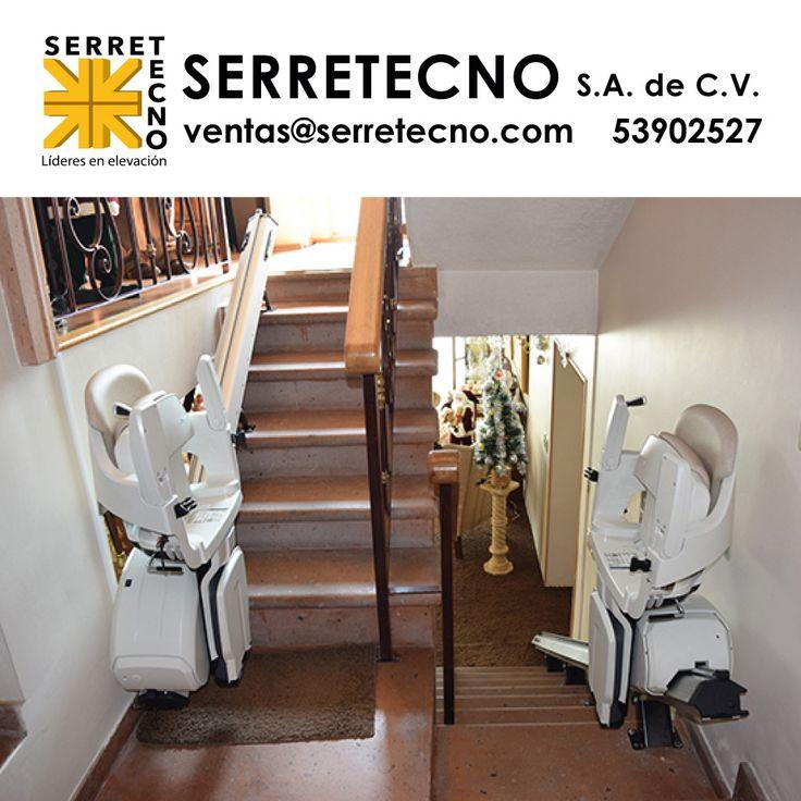 Salvaescaleras para escaleras rectas. Con su diseño innovador satisfacen las necesidades del mercado en cuanto a fiabilidad, buena calidad y rápida instalación.