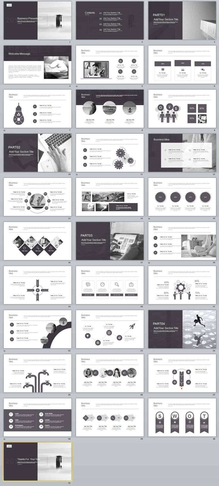 The 24 best 2019 best powerpoint templates images on pinterest 31 best gray business powerpoint template wajeb Choice Image