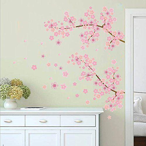 Zooarts Pink Blossom Branch Flying Flowers Removable Wall... https://www.amazon.co.uk/dp/B01D1NDXQ0/ref=cm_sw_r_pi_dp_x_44TNybKSRF6TQ