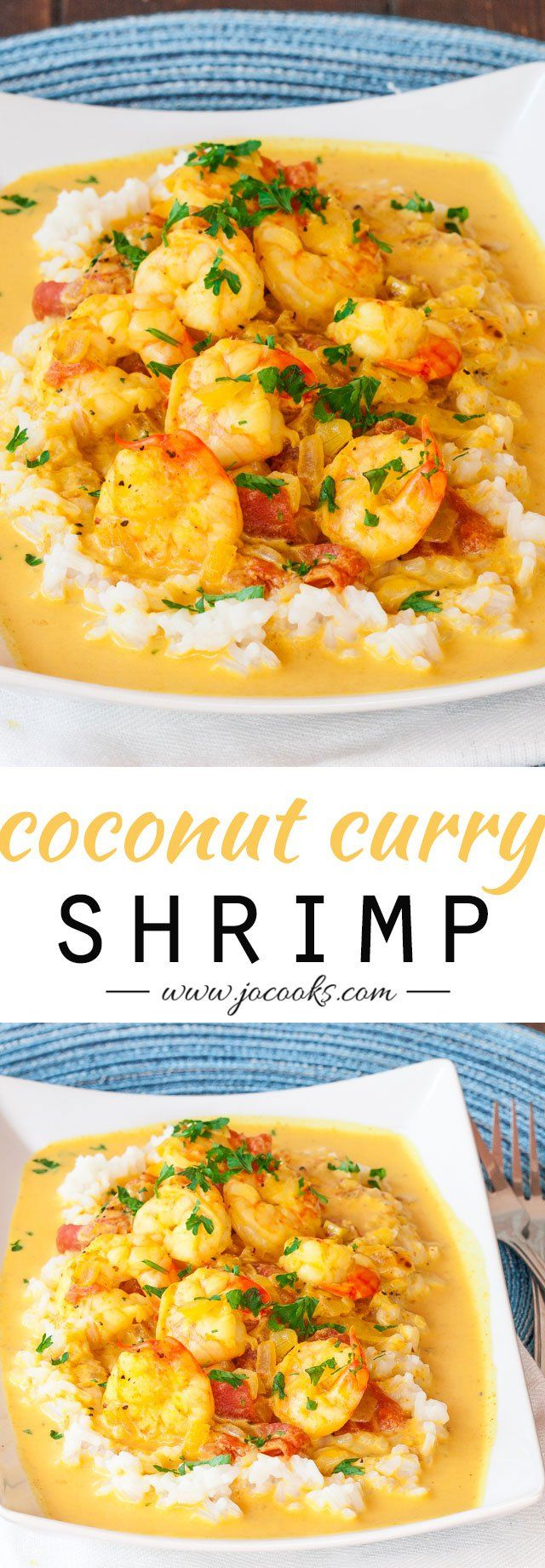 Coconut Shrimp Curry- delish.  Added red peppers, broccoli and serranos