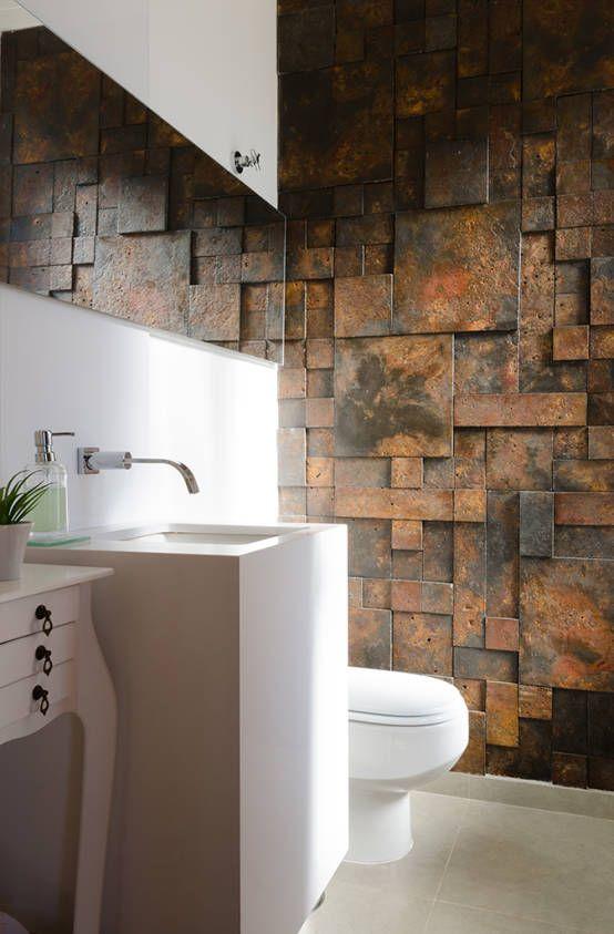 Residência Parque dos Manacás : Banheiros modernos por Sorolla Mancini Arquitetura