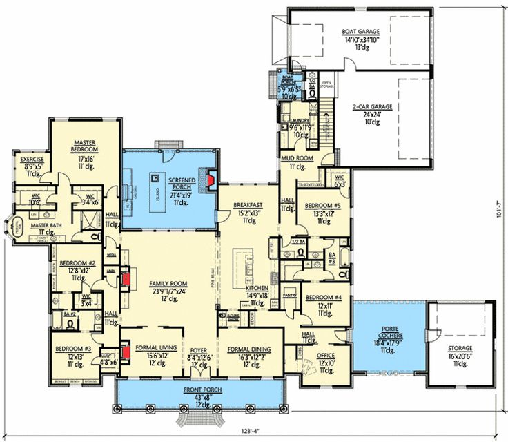 Do It Yourself Home Design: Luxury Southern Home Plan With Boat Garage And Many Extras