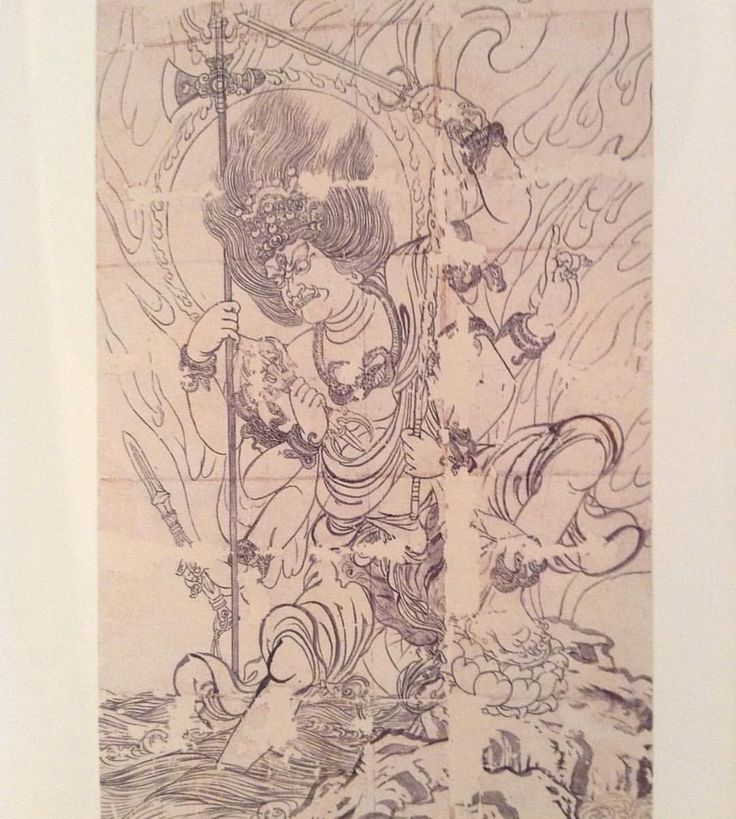 """336 次赞、 1 条评论 - 中野 寿楼 (@jiro_tftd) 在 Instagram 发布:""""密教図像 金剛童子像  信海筆 鎌倉時代 Kongodouji by Shinkai  Kamakura era"""""""