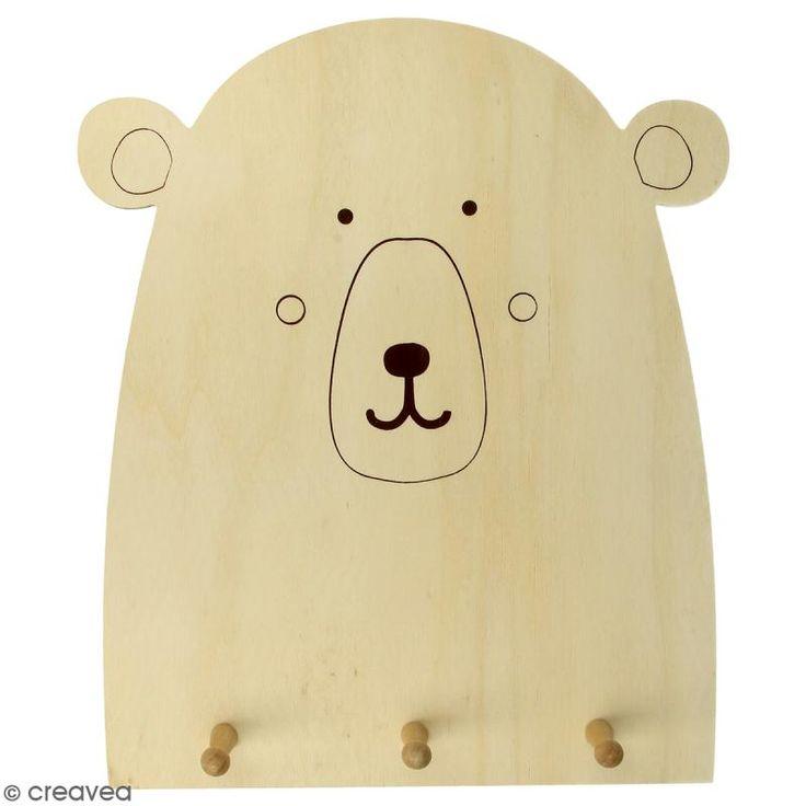 Compra nuestros productos a precios mini Perchero de madera Oso para decorar - 25 x 29,5 cm - Entrega rápida, gratuita a partir de 89 € !