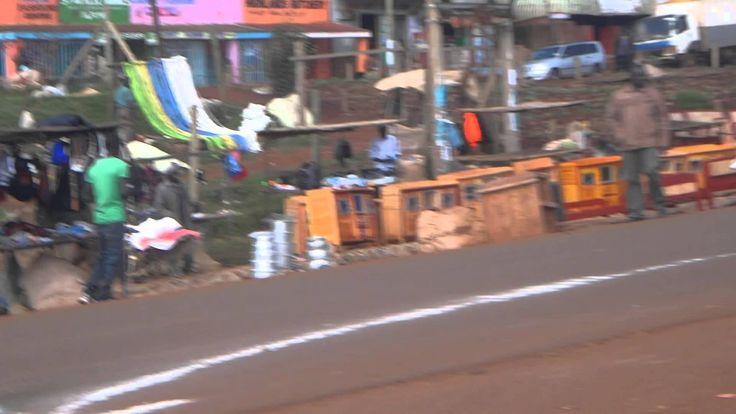 Iten 10K race; leader Albert Kangogo at the end
