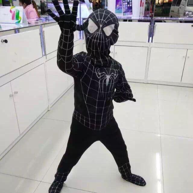 New 3D Printing Halloween Costumes For Kids Black Spiderman Costume Amazing Spider-Man Superhero Cosplay Costumes #Affiliate