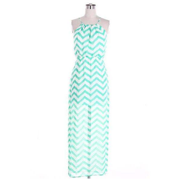 Maxi Dress Green Maxi Dress Summer Dress Beach Dress Chevron Maxi... ($34) ❤ liked on Polyvore featuring dresses, red, women's clothing, green maxi dress, red sundress, long maxi dresses, maxi sundresses and summer maxi dresses