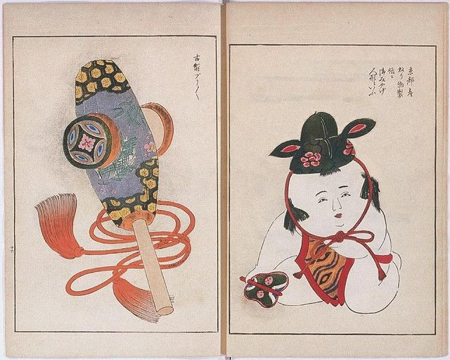 Akita Prefectural Library in Japan have a series of six toy design illustration books produced between 1891 and 1913 by (I think) Yamada from Kyoto.