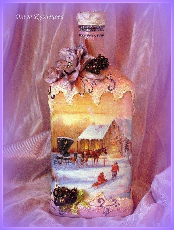 Новогодний декор бутылок, автор Chapa96 на Яндекс.Фотках, 2012 год