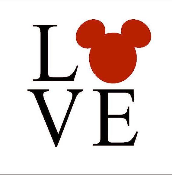 5 inch Mickey Love Vinyl Decal by CreateCelebrateMagic on Etsy, $5.00