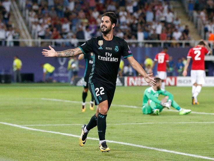 Assistência de Gareth Bale, GOL DE ISCO MADRID 2X1 UNITED  FINAL SUPER COPA DA EUROPA TEMPORADA 17/18