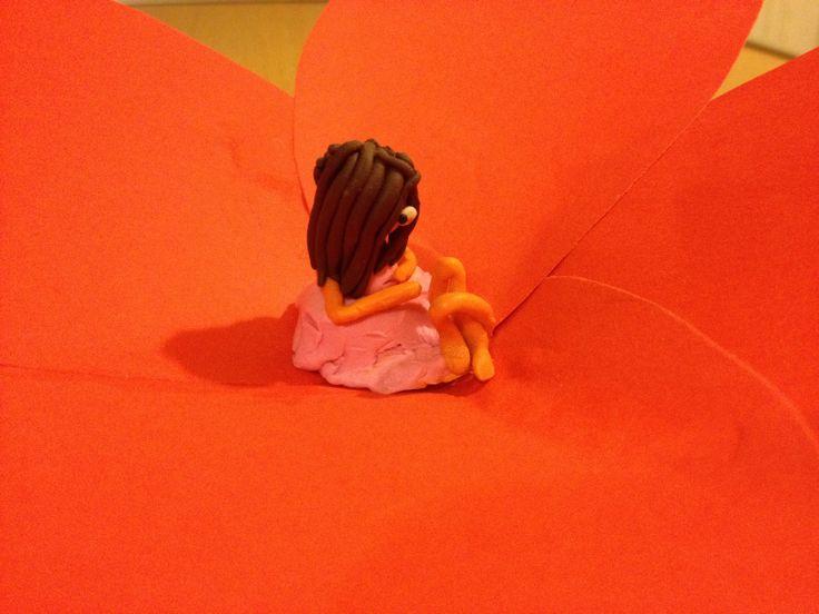 girl on a flower