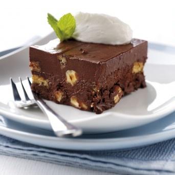 Chocolate & Tia Maria Fudge Cake made with Fage Greek yogurt...may have to try this. I love Fage yogurt.