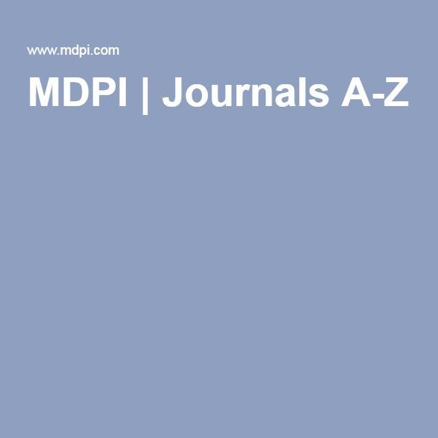 MDPI | Journals A-Z