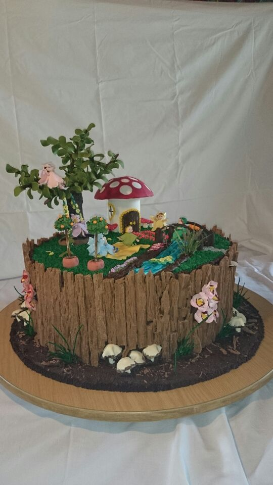 Fairy tree stump garden