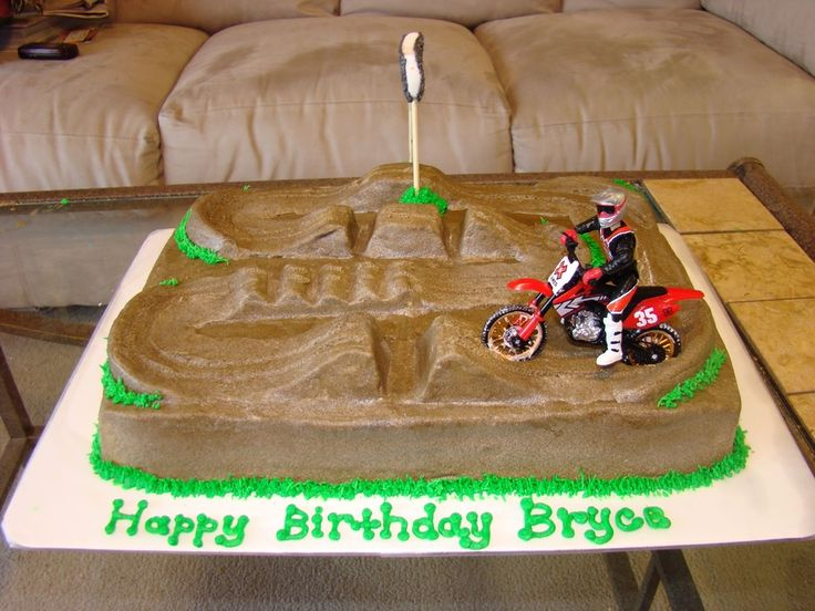 motocross cake   motocross track — Cars / Trucks / Automobiles