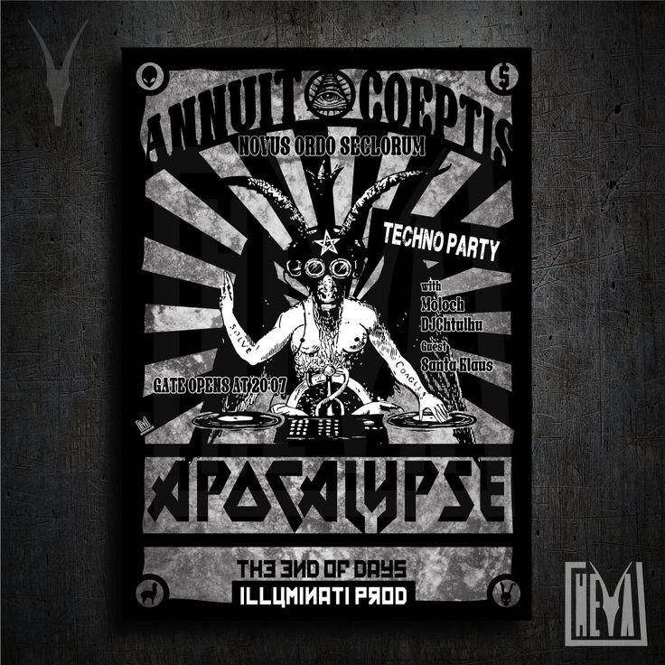 Poster da collezione 50x70 cm - Apocalypse. Techno Party - Design originale Heya di HeyaStore su Etsy