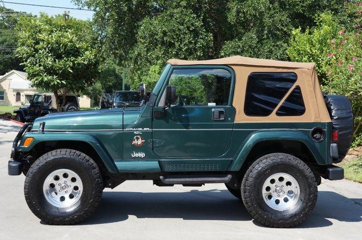 Want A Low Mileage  U0026quot Tj U0026quot  Jeep Wrangler  1999 Green Sahara