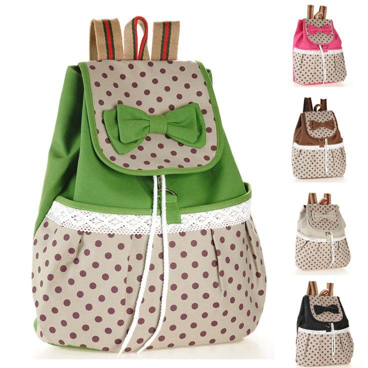 HOT 2014 Printing Backpack Women Bow Fashion Mochilas School Bags for Teenage Girls Canvas Sexy Cute String Rucksacks Knapsacks-inBackpacks ...