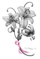 Breast cancer tyler lily tattoo design by lil-shegan