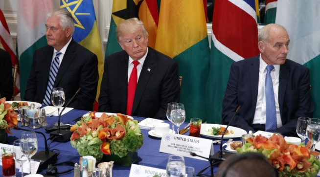 President Donald Trump on Wednesday praised the health system of an African country that does not exist while speaking at...