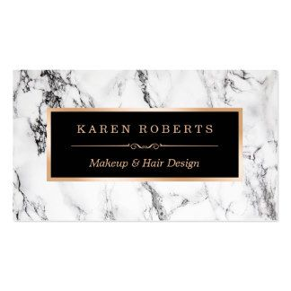 White Marble Beauty Salon Hair Dresser Appointment Pack Of Standard Business Cards