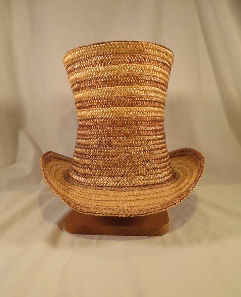 Strip Straw Top Hat - The Banff Centre